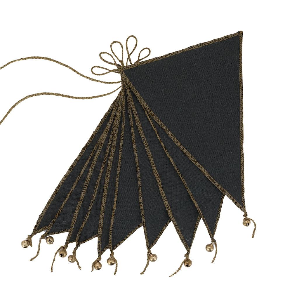 NUMERO 74 : Bunting garland, dark grey