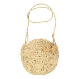 OBI OBI : Tasche rund, natur mit gold