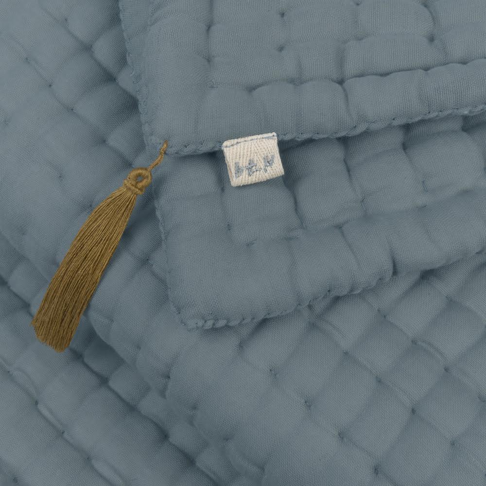 NUMERO 74 :  Quilt Tatami Double Saloo, Ice blue