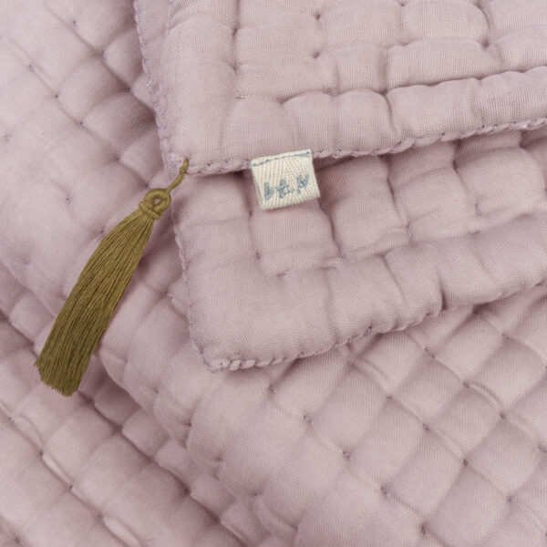 NUMERO 74 :  Quilt Tatami Double Saloo, Dusty Pink