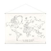 Numero 74 : World Map Poster Kit, One Size Canvas, Natural - Multicolor