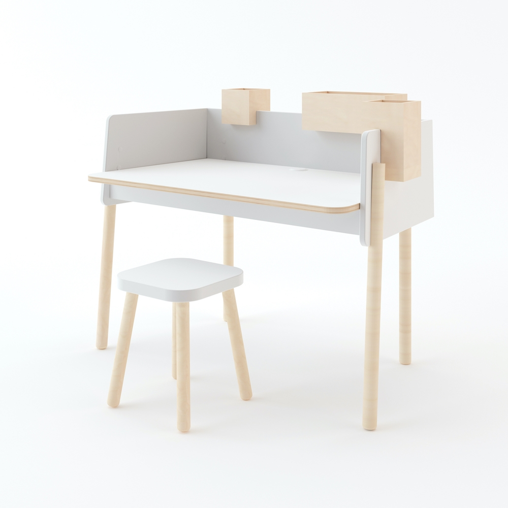 OEUF NYC : Square stool, Höhenverstellbarer Hocker