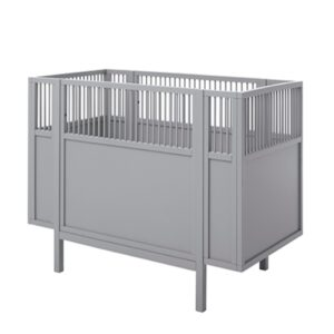 Lifetime :  Blue Rose Grey, Baby cot 60x120