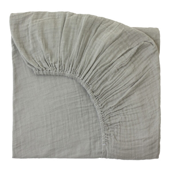 NUMERO 74 : Fitted bed sheet, pale peach
