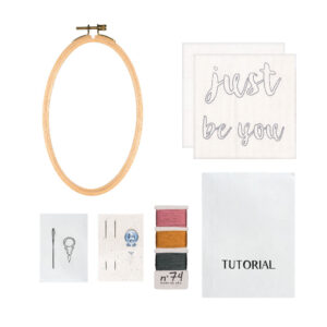 NUMERO 74 : Creative Kit embroidery hoop, you are so