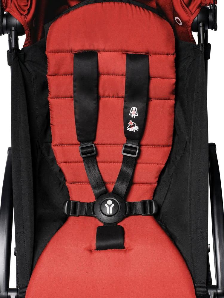BABYZEN : YOYO + 6+, Gestell weiss, Textil red
