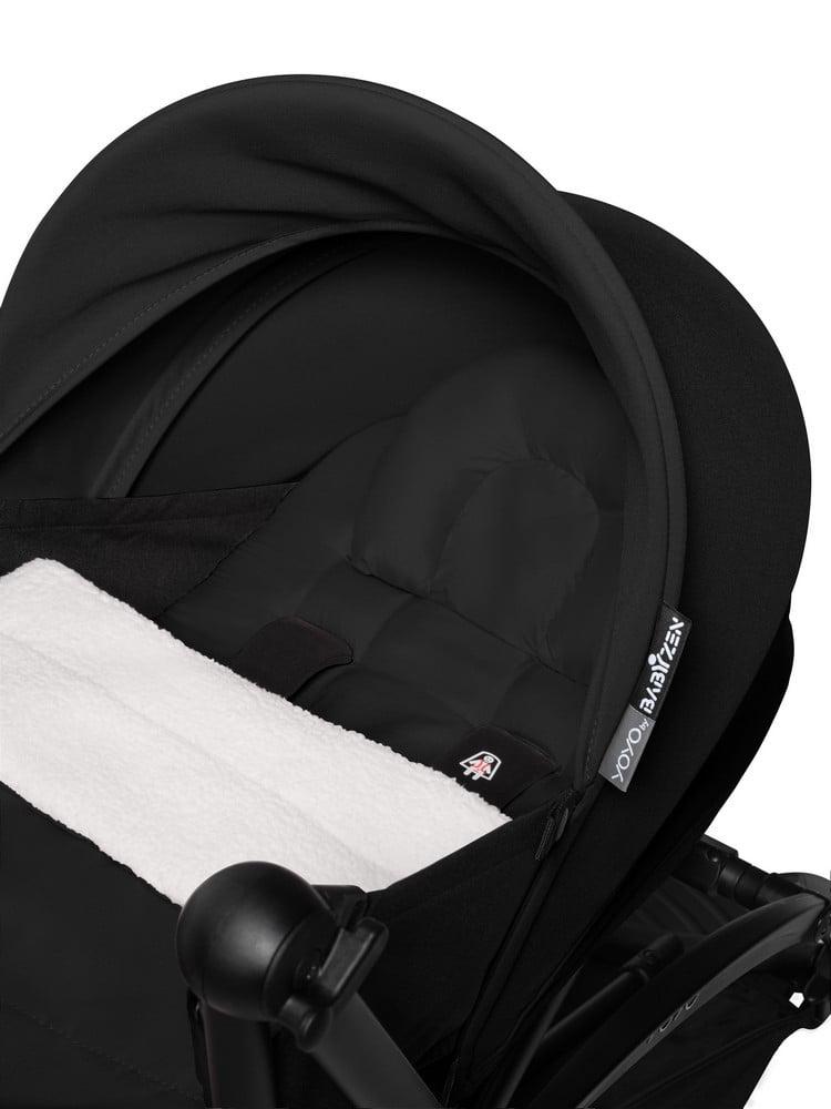 BABYZEN : YOYO 2 0+, Gestell weiss, Textil black