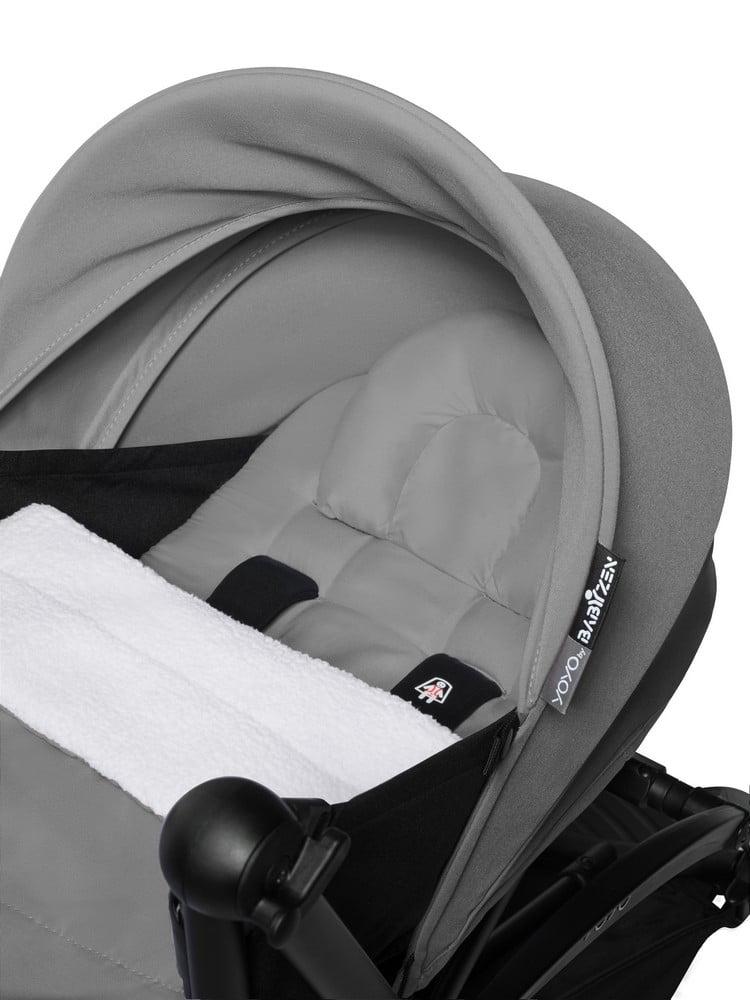 BABYZEN : YOYO 2 0+, Gestell schwarz, Textil grey