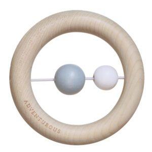 Petit Stellou : Holzringe Spielzeug, blau