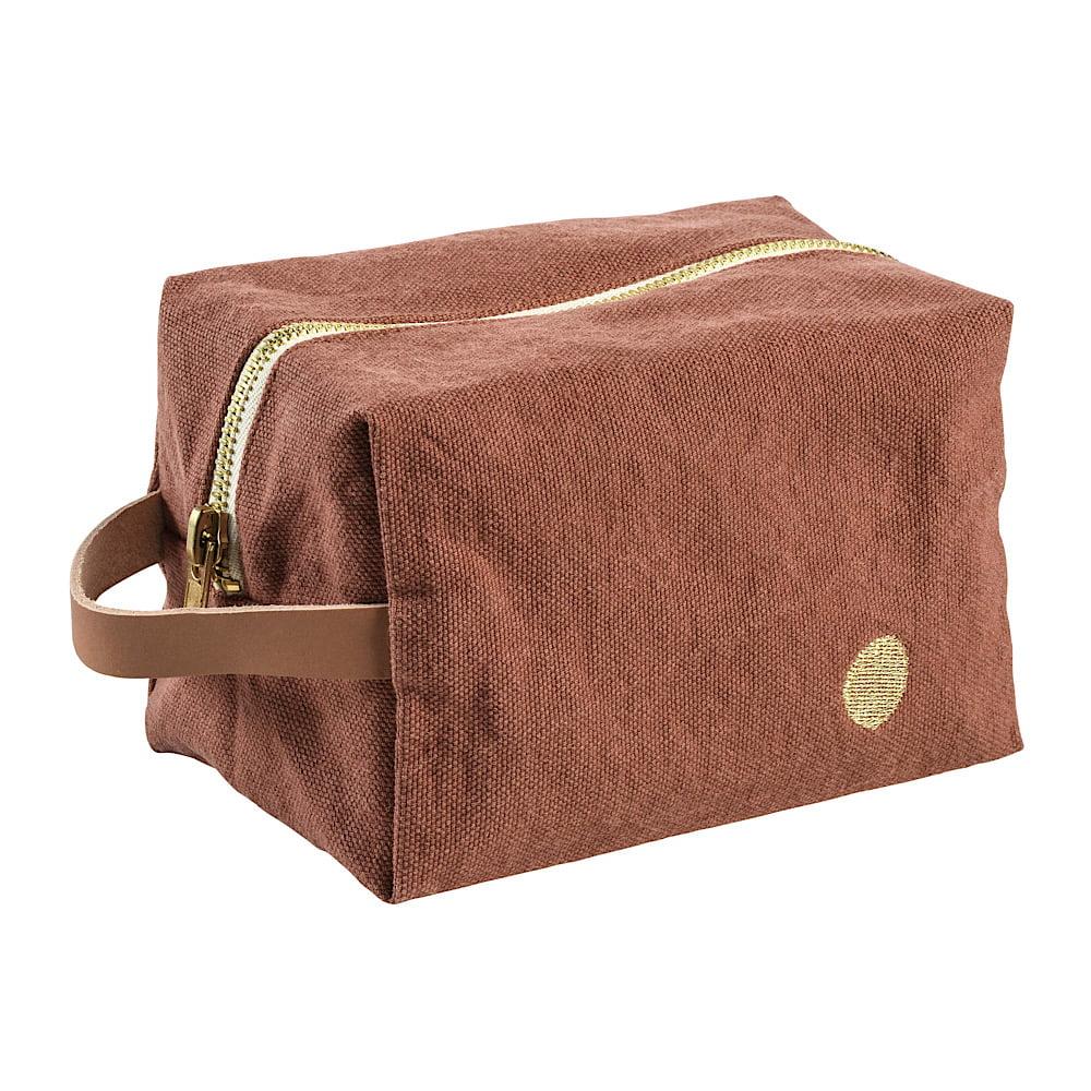 LA CERISE SUR LE GATEAU : Necessaire Cube Iona, Rhubarbe pm
