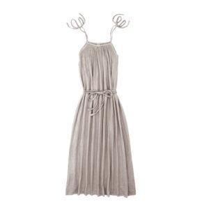 NUMERO74 : Mia long dress mum, powder