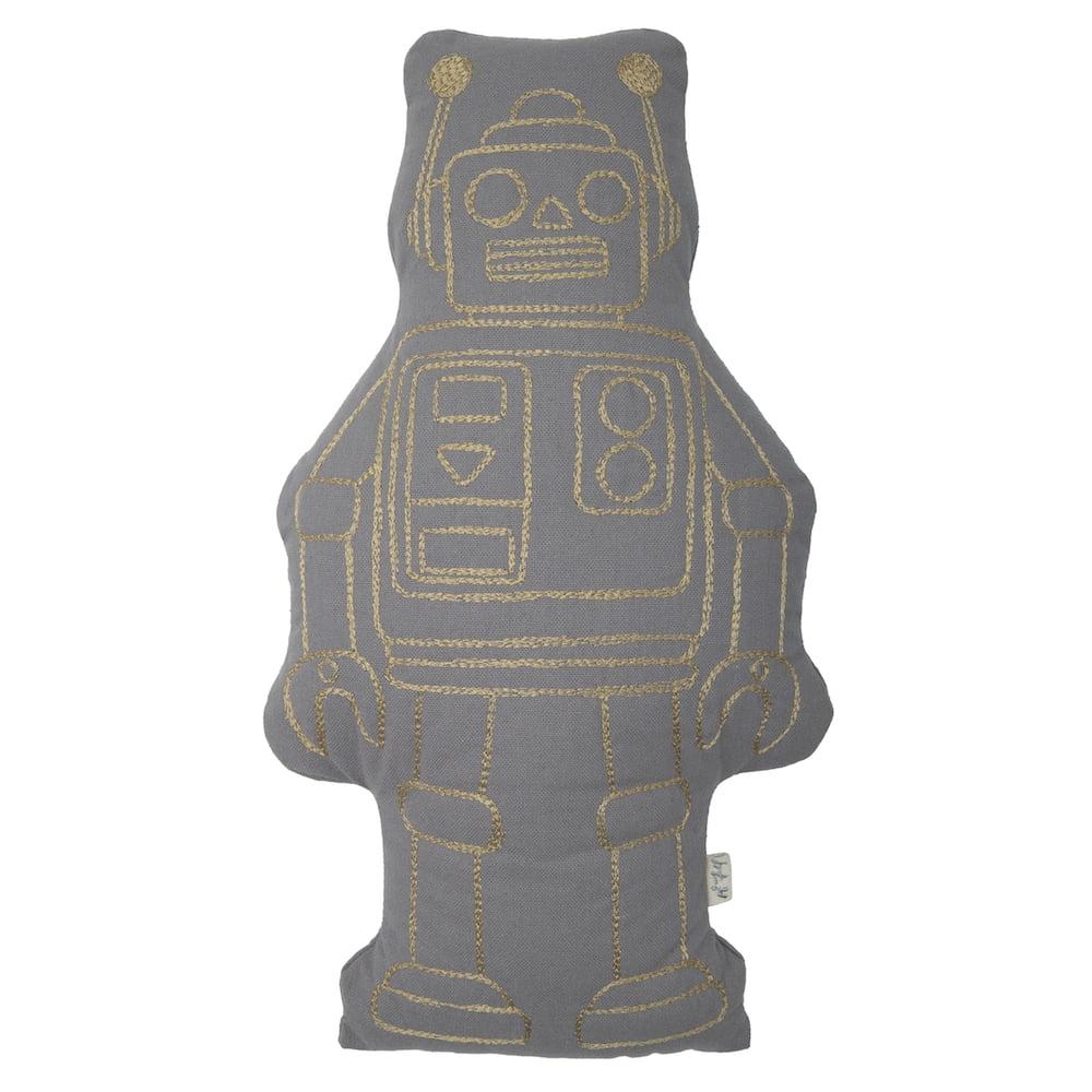 NUMERO74 : Robot Kissen, stone grey