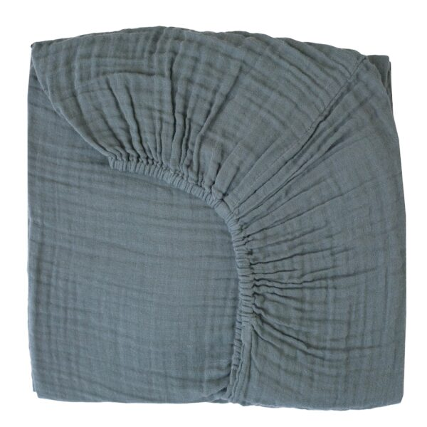 NUMERO 74 : Fitted bed sheet, ice blue