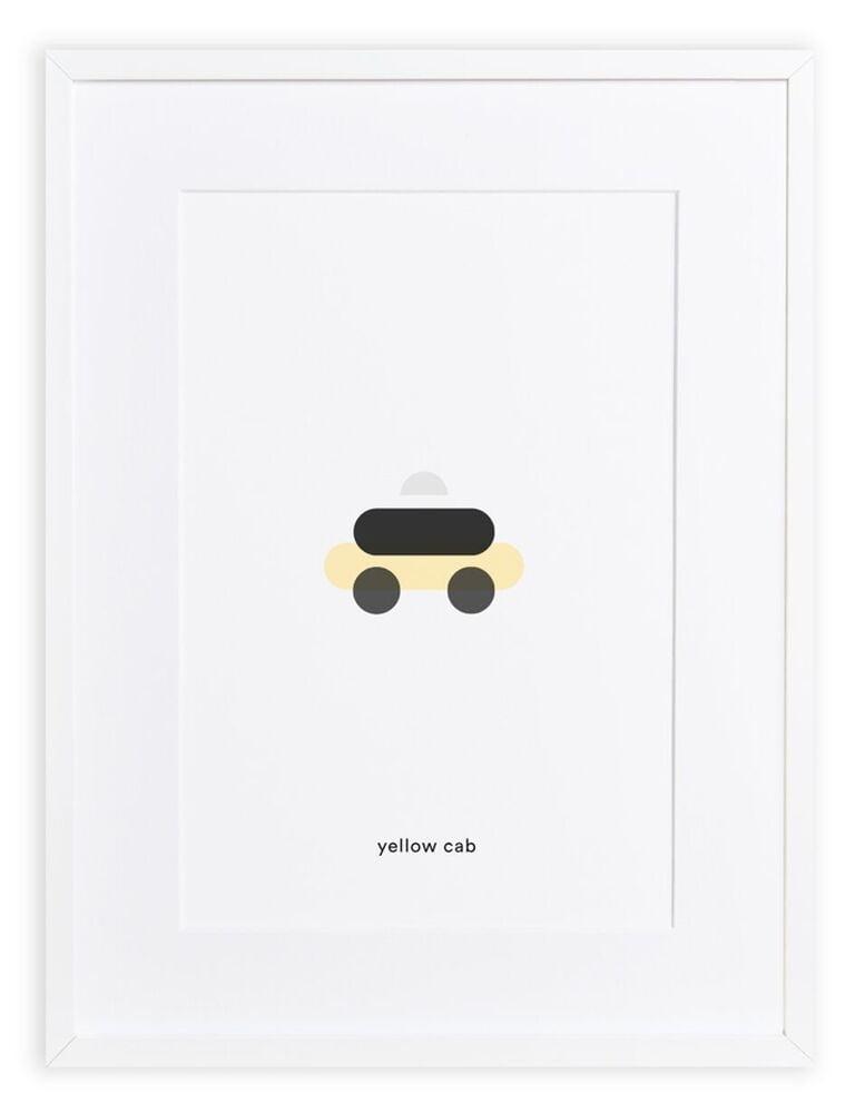 Maison Deux : Minimal Print Yellow cab