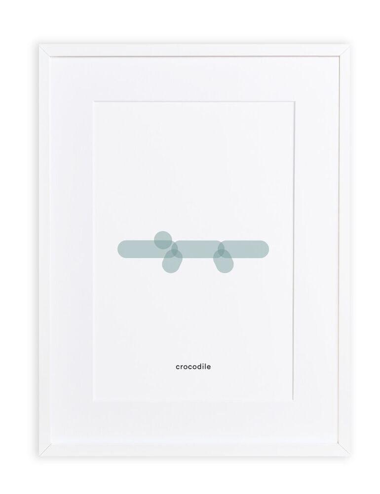 Maison Deux : Minimal Print Crocodile